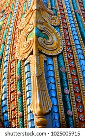 Colorful details on hindu temple