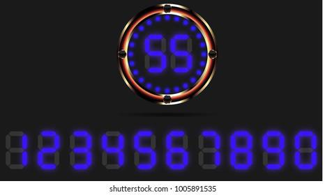 colorful digital clock