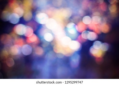 colorful dimmed blurred lights, abstract bokeh background
