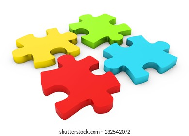 colorful disconnected puzzle