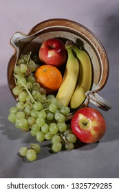 A colorful display of fruits spilled out for all to enjoy.