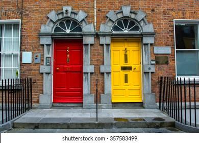 Colorful Doors in Kilkenny in Ireland