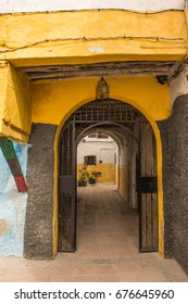 Colorful Doorway and Passage in the Medina, Rabat, Morocco
