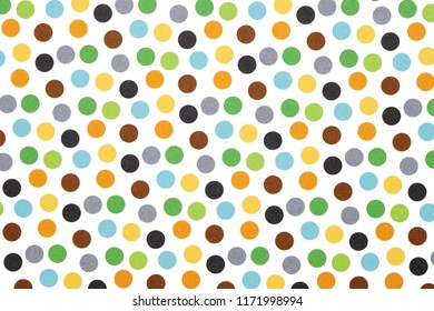 Colorful dotted seamless pattern, texture background
