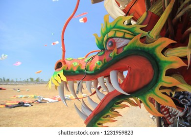 colorful dragon shaped mask