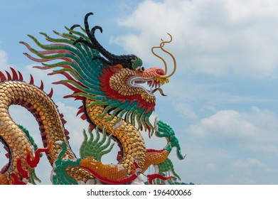 Colorful dragon statue  Accepted the examination alredy