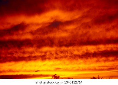 Colorful and dramatic sunset. Vivid abstract natural background.
