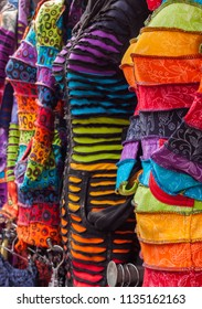 Colorful Dresses in a row
