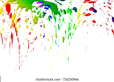 Colorful drops isolated on white background,abstract pattern