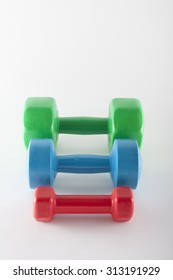 colorful dumbbell