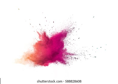 Colorful dust explode. Paint Holi.
