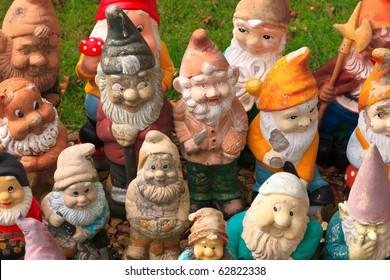 Colorful dwarf figures