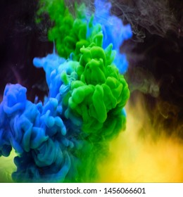 The colorful dye in the water Abstract background