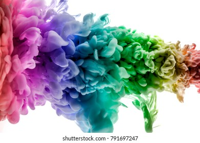 The colorful dye in the water. Abstract. background. Wallpaper. Concept art