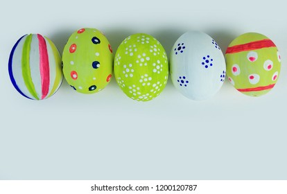 colorful Easter eggs .the concept of the celebration