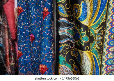 colorful Eastern scarves and pashmina Bazaar