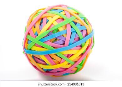 Colorful elastic ball