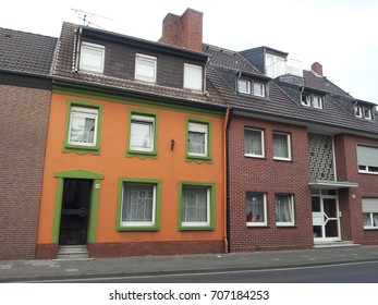 Colorful Europe style buildings in Erkelenz, Germany