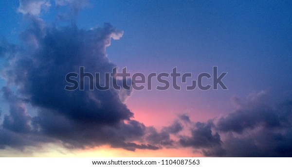 Colorful evening sky