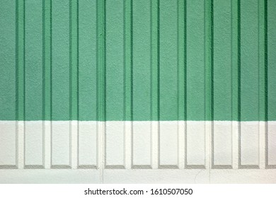 Colorful exterior wall painted green