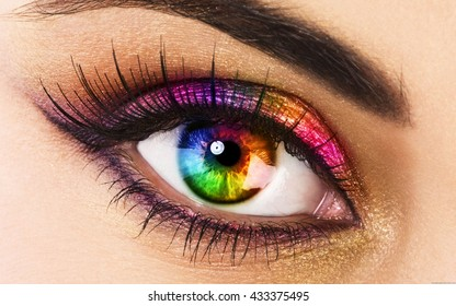Colorful eye - Rainbow eye
