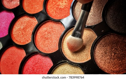 Colorful eyeshadow makeup model