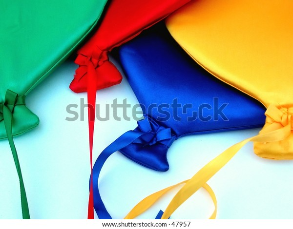 colorful fabric baloons