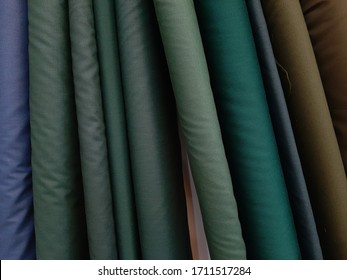 colorful fabric in line for background