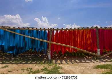colorful fabrics in the beach fabric industry