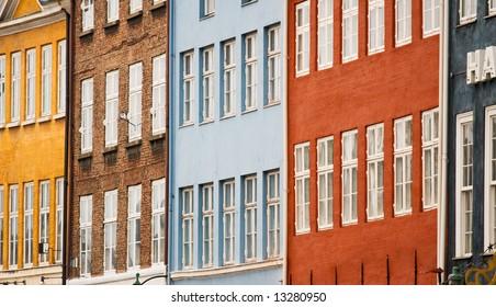 Colorful facades of Copenhagen (Denmark)