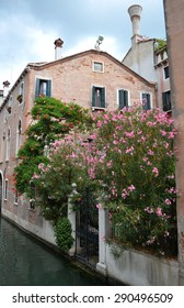 colorful facades of Venetian houses along the canal