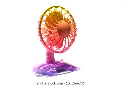 colorful fan on a white background