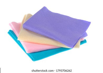 Colorful felt fabric cloth for DIY projects.