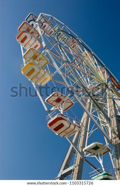 Colorful Ferris Wheel at the NJ Shore