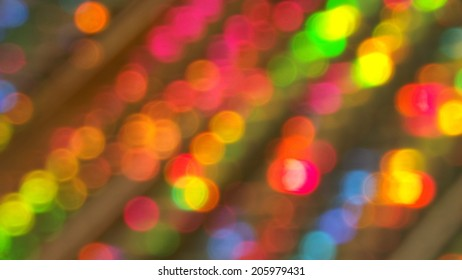 Colorful Festive Bokeh Lights Background