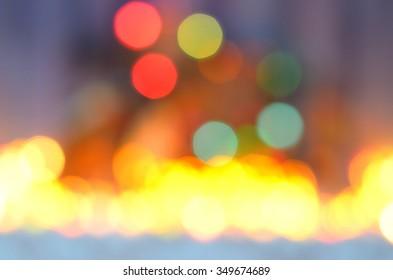 colorful festive defocused bokeh background