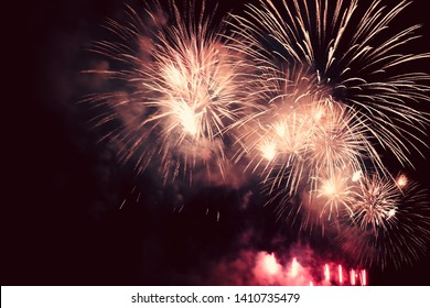 colorful fireworks for abstract , anniversary, celebration and new year background