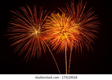 colorful fireworks display