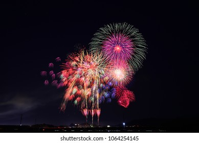 Colorful Fireworks Festival