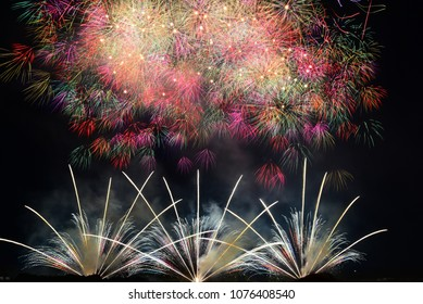 Colorful Fireworks of Japan