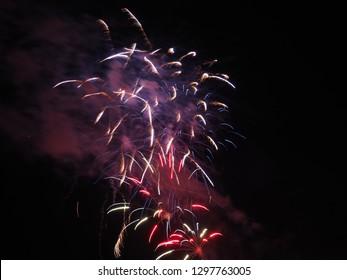 Colorful Fireworks In Leesburg, Virginia