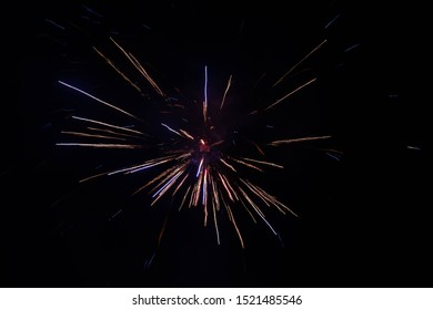 Colorful fireworks in night, Fireworks light up the sky with dazzling display