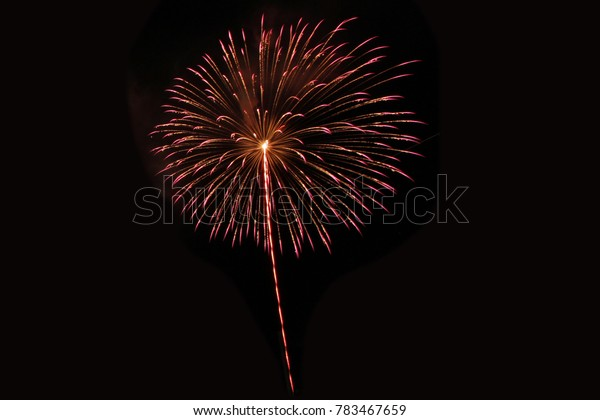colorful fireworks on the night sky background