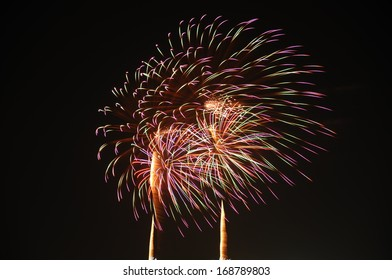 Colorful firework,thailand