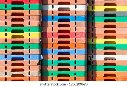 Colorful fish boxes