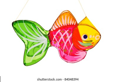 Colorful Fish Shape Lantern For Celebration Of Mid Autumn Festival