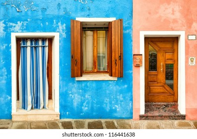 Colorful fishermen houses in Burano, Venice, Italy