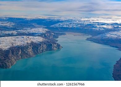 Colorful Fjords in Western Greenland near Kangerlussuaq; Greenland