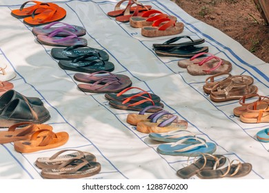 colorful flipflops everywhere