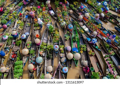 Colorful Floating Market at Lokbaintan 2016 from Banjarmasin, Indonesia